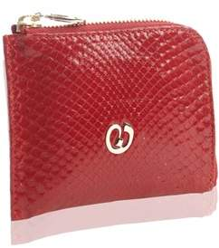 Nada Sawaya Medium Zip Around Python Wallet - Red