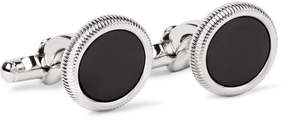 Dunhill Palladium-Plated Onyx Cufflinks