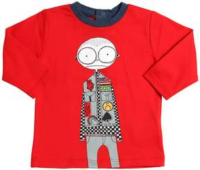 Little Marc Jacobs Boy Printed Cotton Jersey T-Shirt