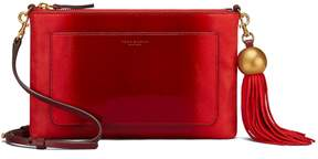 Tory Burch OMBRE PATENT TASSEL CROSS-BODY - EXOTIC RED - STYLE