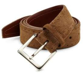 Saks Fifth Avenue COLLECTION Perforated Suede Belt