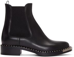 Miu Miu Black Leather Chelsea Boots