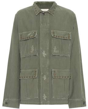 Citizens of Humanity Kylie studded cotton jacket
