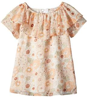 Chloé Kids Flower Print Ruffle Dress Girl's Dress