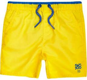 River Island Mini boys yellow swim trunks