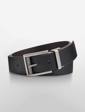 Calvin Klein reversible leather matte belt