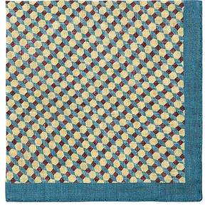 Barneys New York MEN'S HEXAGON-PRINT LINEN POCKET SQUARE