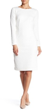 Betsey Johnson Long Sleeve Knit Sheath Dress