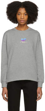 Courreges Grey Snapped Logo Sweatshirt