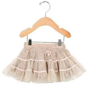 Miss Blumarine Girls' Ruffled Tulle Skirt