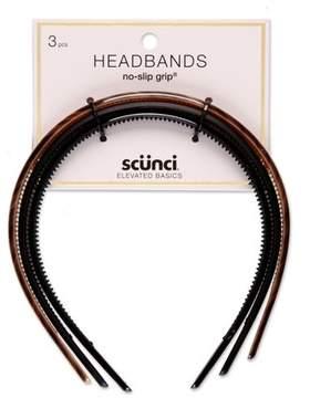Scunci No Slip Skinny Headbands - 3pk