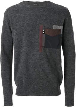 Kolor patch pocket jumper