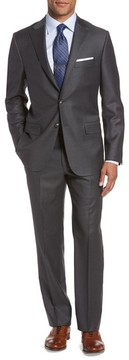 Hickey Freeman Men's Classic B Fit Loro Piana Wool Suit
