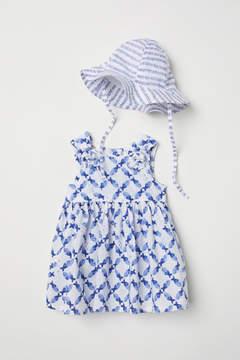 H&M Dress and Sun Hat - Blue