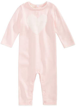 First Impressions Heart Cotton Sweater Coverall, Baby Girls (0-24 months), Created for Macy's
