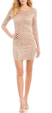 B. Darlin Sequin Lace Sheath Dress