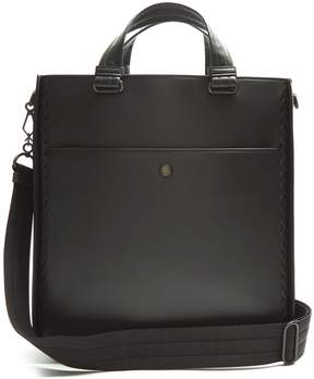 Bottega Veneta Intrecciato-trim leather tote
