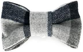 Il Gufo check bow tie