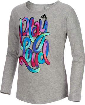 adidas Active Play Loud Long-Sleeve T-Shirt, Toddler Girls (2T-5T)