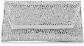 Jimmy Choo MARGOT Silver Glitter Fabric Accessory Clutch Bag
