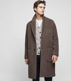 Reiss Voisset Cashmere Blend Overcoat