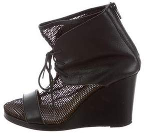 MM6 MAISON MARGIELA MM6 Maison Martin Margiela Mesh Lace-Up Booties