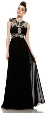 Johnathan Kayne 596 Jeweled Illusion A-Line Gown