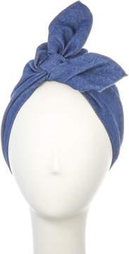 Blue Denim Tie Turban Lolita