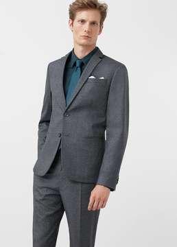 Mango Outlet Skinny patterned suit blazer