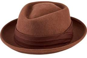 San Diego Hat Company Men's Wool Felt Pork Pie With Grosgrain Trim Sdh9444.