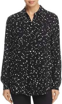Donna Karan Confetti Print Blouse