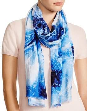 Aqua Marble-Print Scarf - 100% Exclusive