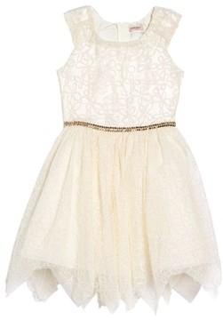 Nanette Lepore Girl's Embroidered Mesh Dress