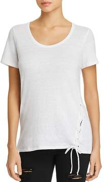 Chaser Short-Sleeve Lace-Up Tee