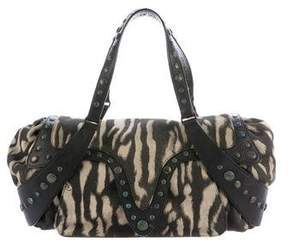 Roberto Cavalli Printed Canvas Shoulder Bag