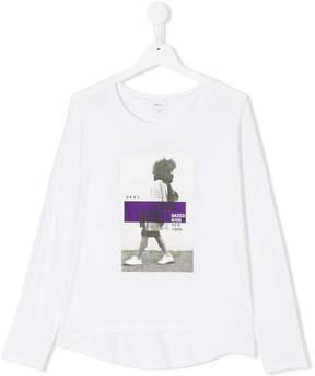 DKNY graphic print long sleeve shirt
