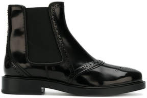 Tod's brogue-detailed chelsea boots