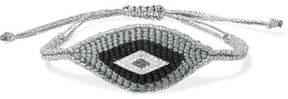 Diane Kordas Evil Eye Woven, Diamond And Sapphire Bracelet - Silver