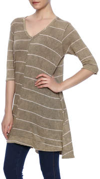 Blu Pepper Striped Tunic Tee