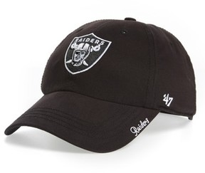 '47 Women's Miata Clean Up Oakland Raiders Ball Cap - Black