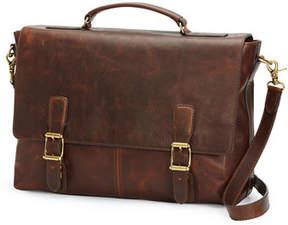 Frye Logan Antique Leather Flap Briefcase