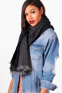 boohoo Striped Oversized Blanket Scarf