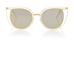 Thierry Lasry Eventually Gold-Tone Cat-Eye Sunglasses