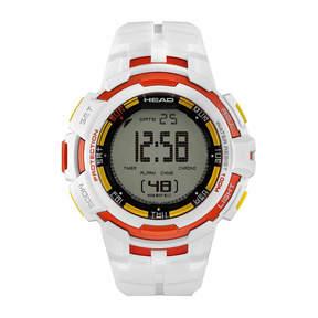 Head Super G Mens White Strap Watch-He-104-01