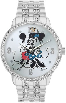 Disney Disney's Mickey & Minnie Mouse Women's Cubic Zirconia Watch