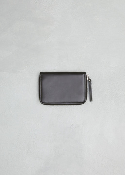 Maison Margiela black small zip around wallet
