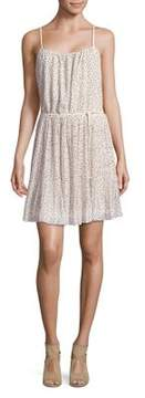 Molly Bracken Polka Dot Pleated Sheath Dress
