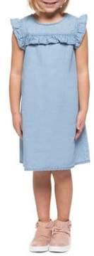 Dex Little Girl's Frill Cotton Tencel Dress