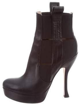 Jerome C. Rousseau Platform Cutout Ankle Boots