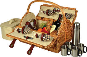 Picnic at Ascot Yorkshire Picnic Basket for Four with Coffee
